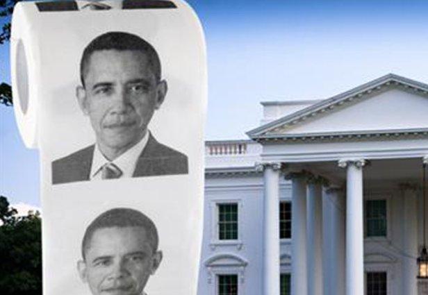 O papel higiênico do Obama, goste dele ou não pode ser um ótimo acessório (Foto: Reprodução/eBay)