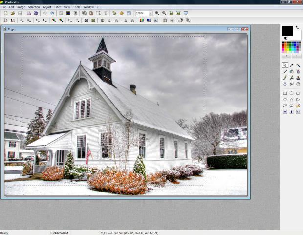 """Use a ferramenta """"Crop"""" para cortar imagens (Foto: Reprodução/Raquel Freire)"""