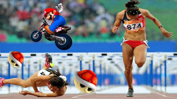 100 metros com cascos (Foto: Reprodução: Rafael Monteiro)