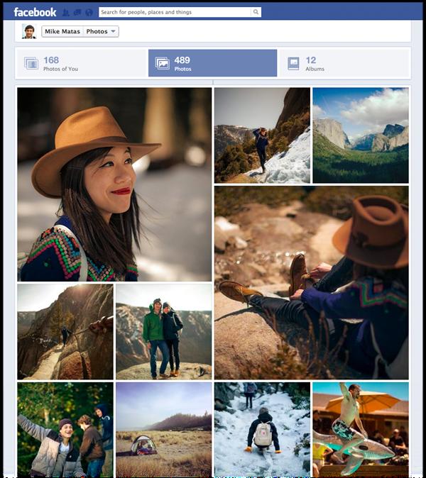 Nova exibição de fotos do Facebook será liberada em breve para usuários da rede social (Foto: Divulgação/Facebook)