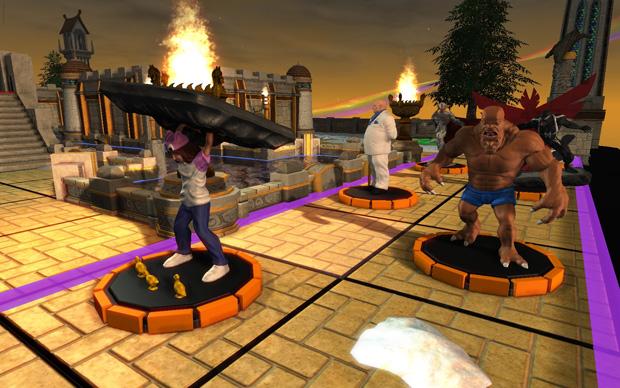 Heróis lutam contra vilões no jogo (Foto: Divulgação)
