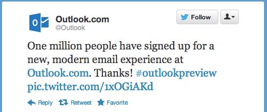 Serviço de e-mail da Microsoft já é um sucesso (Foto: Reprodução)