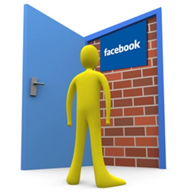 Simulação de mural bloqueado no Facebook (Foto: Reprodução)