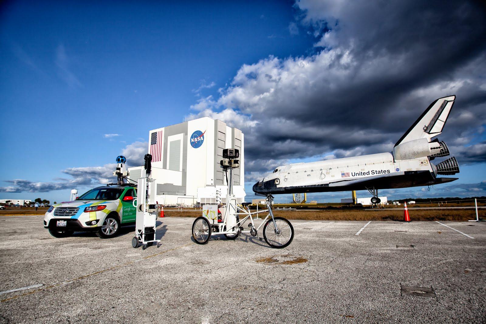 Google Street View revela detalhes do Centro Espacial Kennedy (Foto: Divulgação/Google)