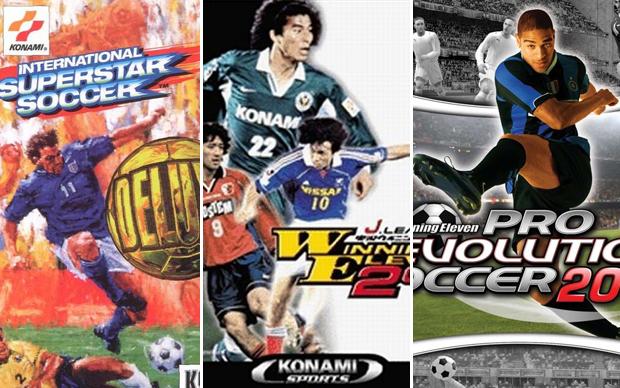 A evolução da franquia Pro Evolution Soccer (Foto: Reprodução)