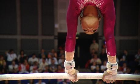 Gabrielle Douglas compete na ginástica artística (Foto: Dan Chung/The Guardian)