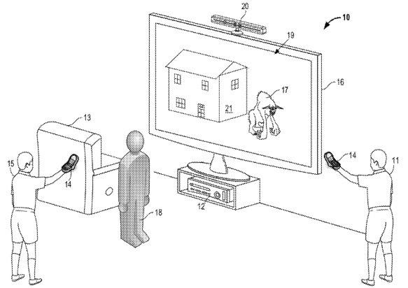 Kinect com recursos para fazer filmes no futuro (Foto: Reprodução/USPTO)