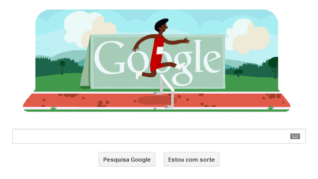 Corrida com obstculos ganha Doodle interativo em homenagem s Olimpadas de Londres (Foto: Reproduo/Google)