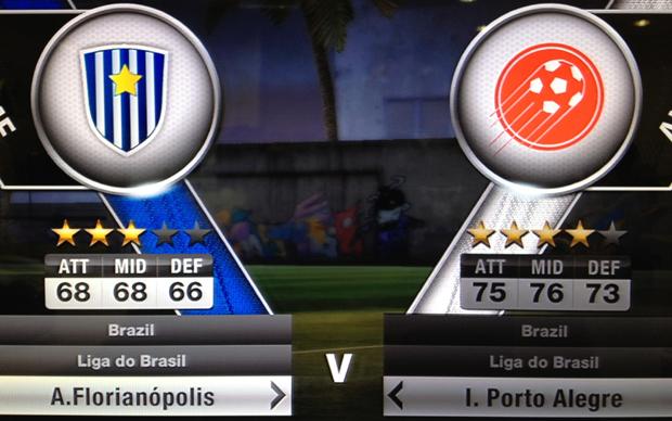 """Times """"genéricos"""" em FIFA 12 (Foto: Reprodução)"""