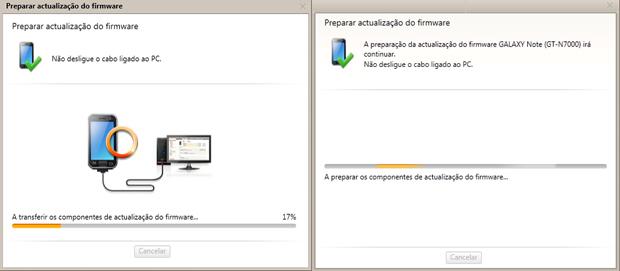 Preparação de atualização de firmware (Foto: reprodução / Flávio Renato) (Foto: Foto: reprodução / Flávio Renato)