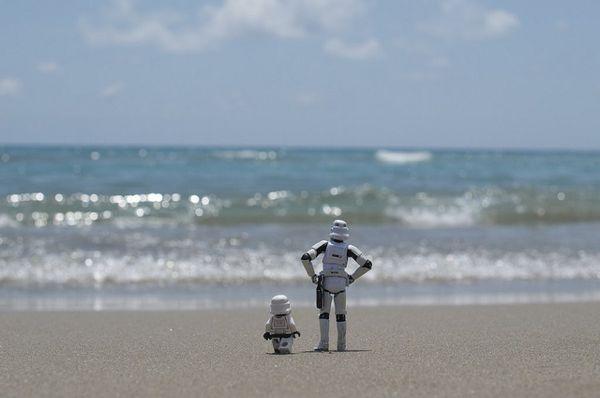 Na praia (Foto: Kristina Alexanderson)