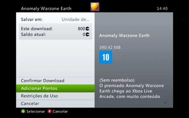 Alguns jogos custam um determinado valor em Microsoft Points (Foto: Reprodução)