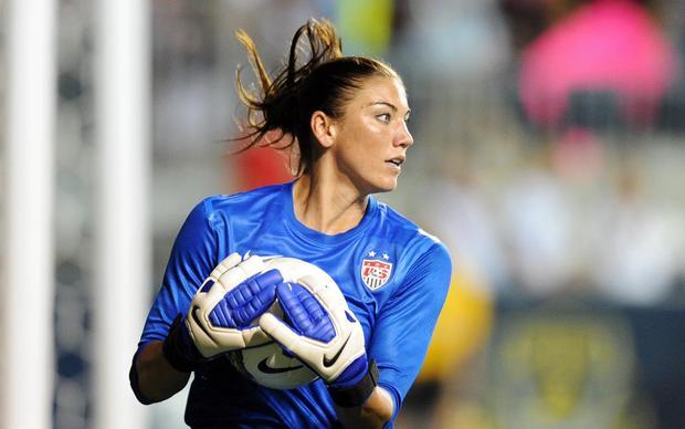 Hope Solo, uma das estrelas do futebol feminino (Foto: Reprodução/Getty Images)
