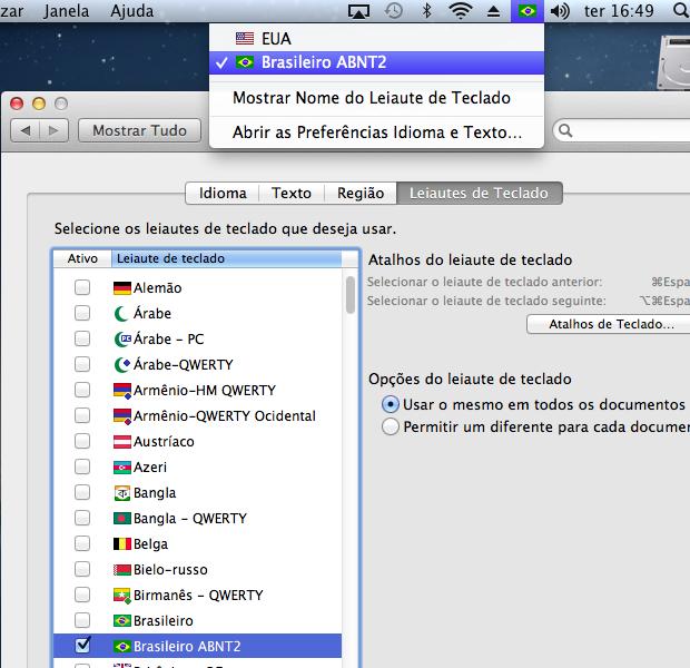 """Marque o item """"Brasileiro ABNT2"""" novamente para efetivar (Foto: Reprodução/Edivaldo Brito)"""
