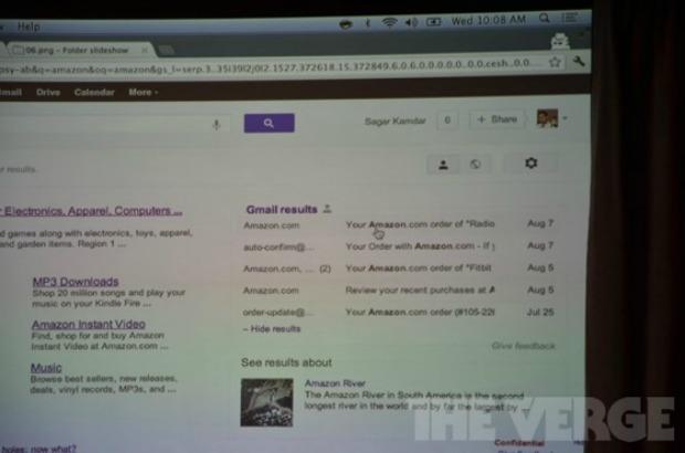 Resultados do Gmail são exibidos após busca no Google (Foto: Reprodução/The Verge)