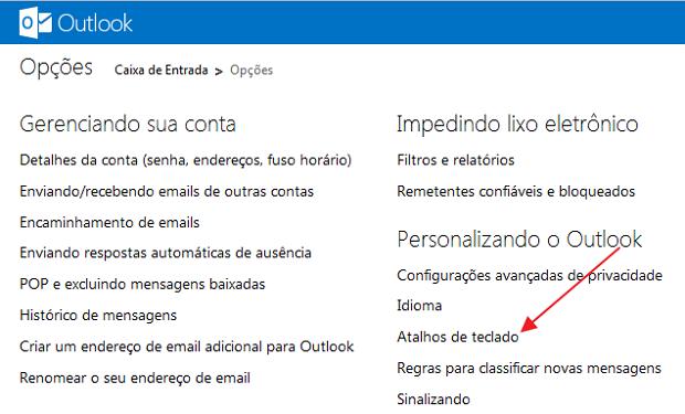 Como habilitar 25 atalhos para o Outlook.com Atalhos-de-teclado