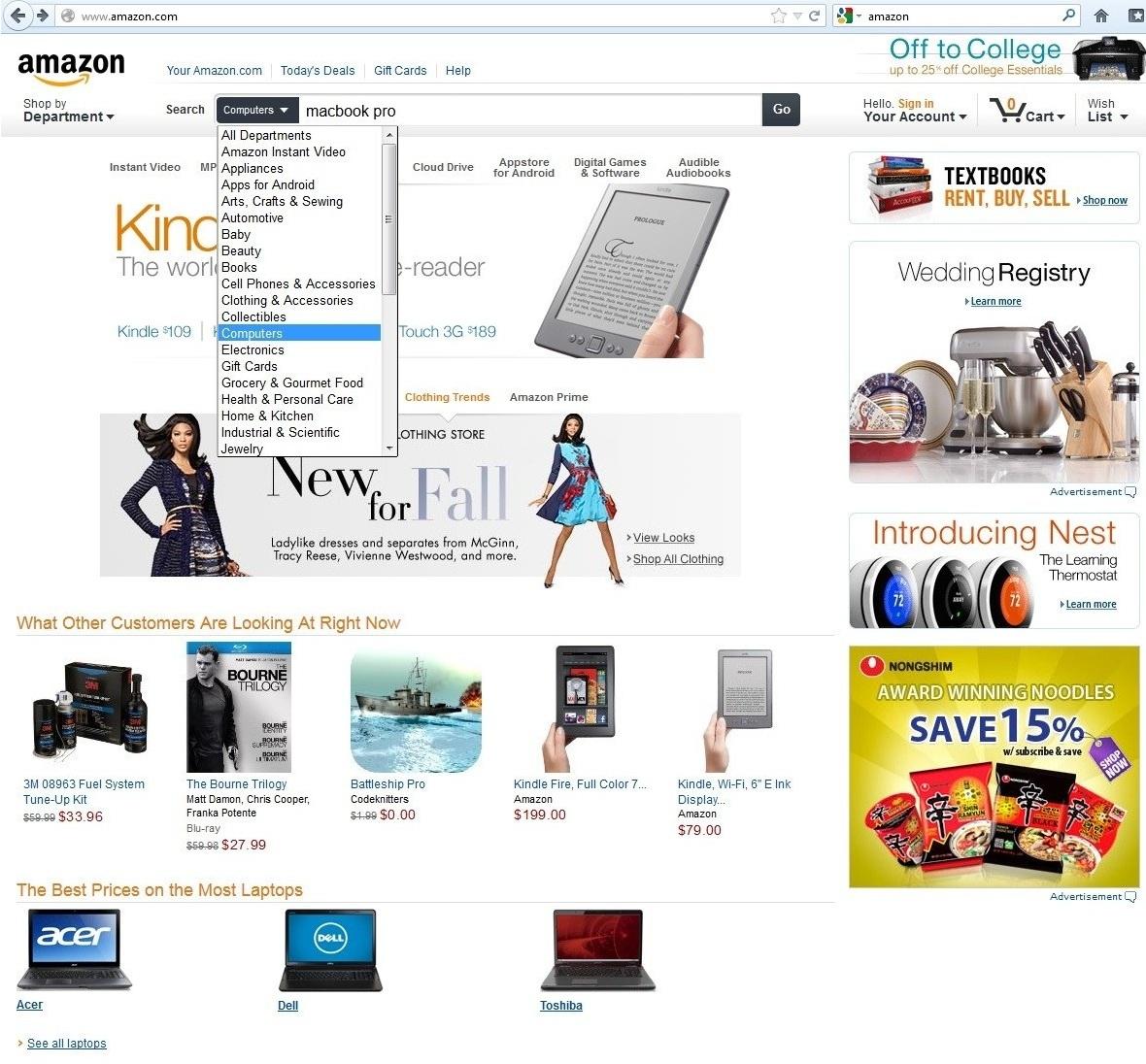 busca Amazon Inicial (Foto: Reprodução)