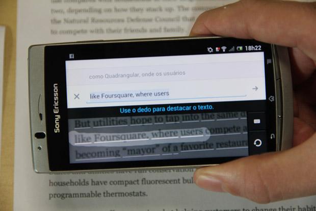Google Tradutor pode ler textos fsicos aps atualizao (Foto: TechTudo/Marlon Cmara)