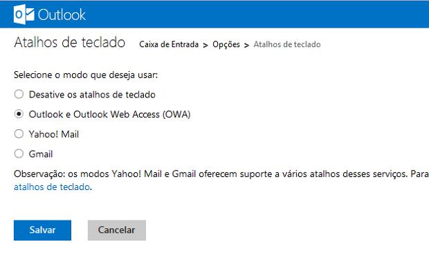 Como habilitar 25 atalhos para o Outlook.com Marque-a-sua-opcao-e-salve