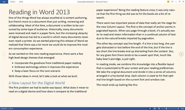 Fundo do texto poderá ser adaptado com facilidade para melhorar as condições de leitura no Word 2013 (Foto: Reprodução)