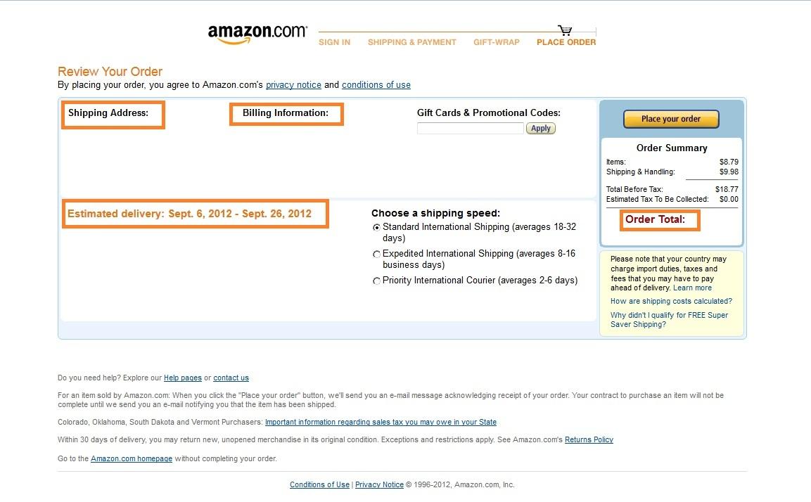 Pagamento Final Amazon (Foto: Reprodução)