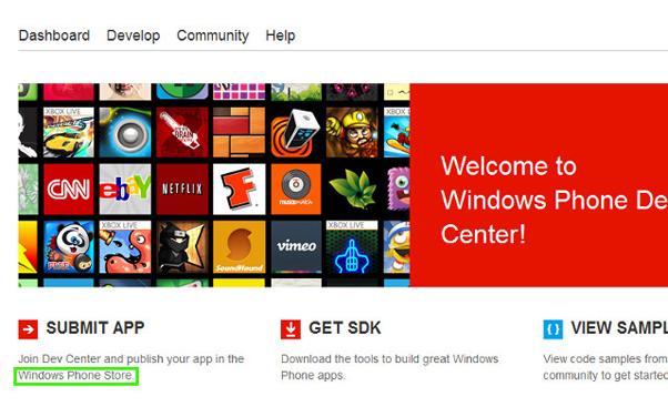 Página do Windows Phone Dev Center aponta a possibilidade do Marketplace virar Windows Phone Store Foto Reprodução