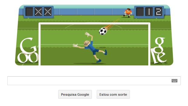 Futebol é tema de Doodle interativo em homenagem às Olimpíadas de Londres (Foto: Reprodução/Google)