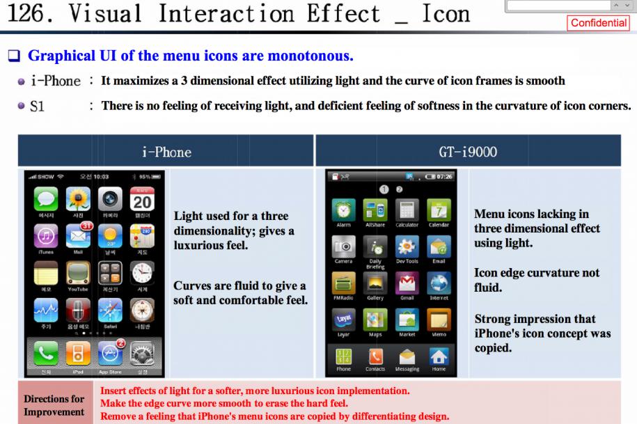 Relatório produzido pela Samsung determina as mudanças necessárias para aproximar a interface dos dois aparelhos (Foto: Reprodução)