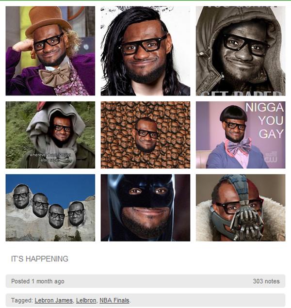 Algumas montagens com o meme Lelbron feitas com personagens conhecidos (Foto: Reprodução)