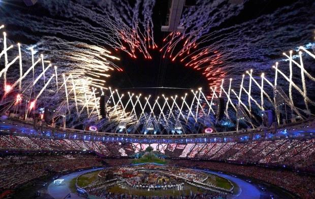 Cerimônia de abertura dos Jogos Olímpicos de Londres 2012 (Foto: Reprodução/Agência Reuters)