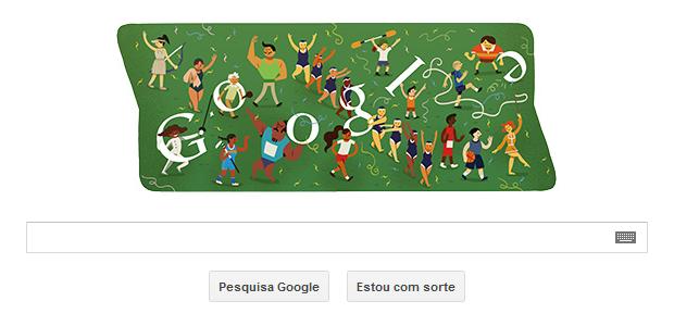 Cerimônia de Encerramento das Olimpíadas de Londres é tema de Doodle do Google (Foto: Reprodução/Google)