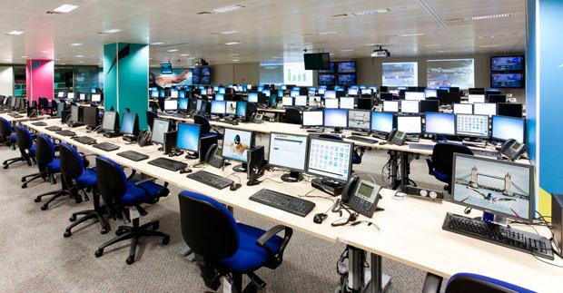 Centro de Operações dos Jogos Olímpicos de Londres 2012 (Foto: Divulgação)