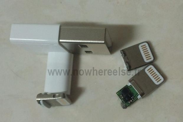 Novos conectores do iPhone 5 caem na internet (Foto: Reprodução/ Nowhereelse)