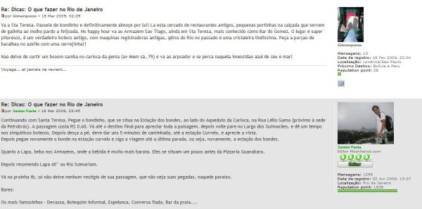 No site Mochileiros é possível trocar relatos e tirar dúvidas sobre diferentes destinos (Foto: Reprodução)