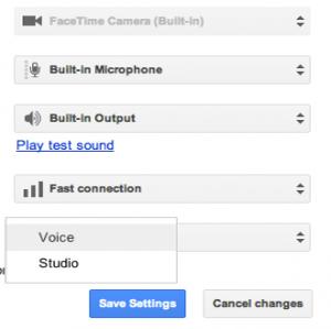 Opção de edição de estúdio para áudio dos hangouts está chegando (Foto: Reprodução)