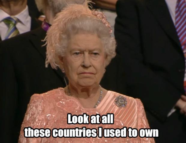 Rainha Elizabeth II drante a abertura das Olimpíadas (Foto: Reprodução/ Raquel Freire) (Foto: Rainha Elizabeth II drante a abertura das Olimpíadas (Foto: Reprodução/ Raquel Freire))