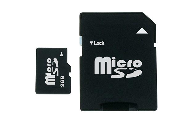 Cartão miniSD e SD (Foto: Reprodução)