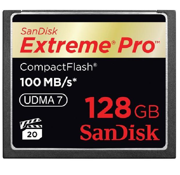 Compact Flash I, da SanDisk, com 128GB de capacidade (Foto: Reprodução/ Raquel Freire)