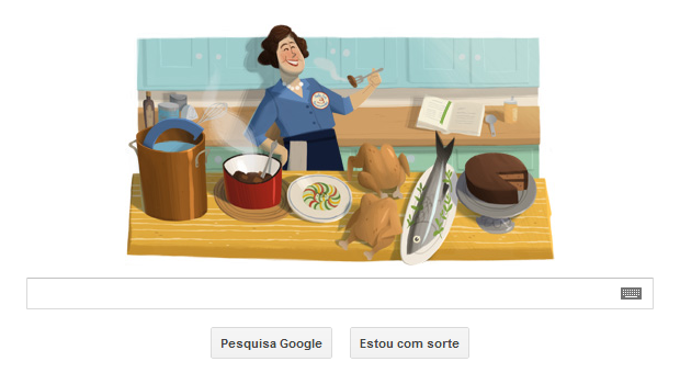 Centenário de Julia Child é comemorado com Doodle do Google (Foto: Reprodução/Google)