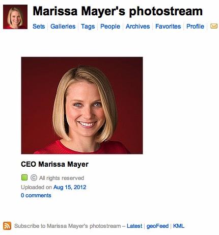 Marissa Mayer, CEO do Yahoo! é a primeira diretora executiva da empresa a criar conta no Flickr (Foto: Reprodução)