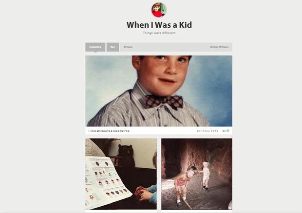 Fotografias nostálgicas criadas por Evan Williams para exemplificar ideia do Medium (Foto: Divulgação)