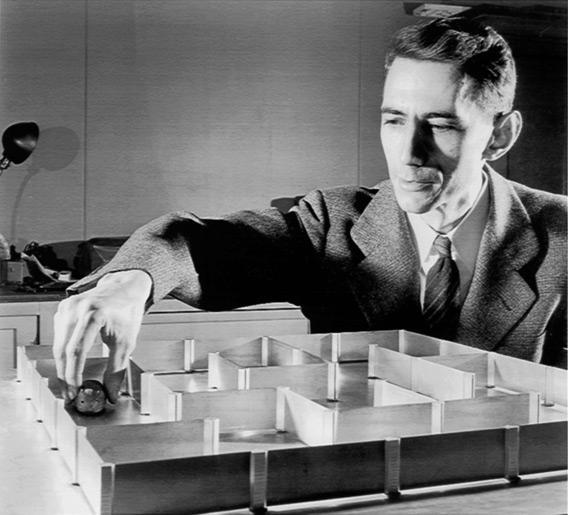Figura 1: Claude Shannon e um de seus inventos