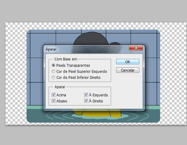 Aparar pixels transparentes (Foto: reprodução / Flávio Renato)