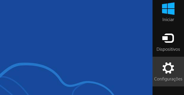 Charm Bar do Windows 8 (Foto: Reprodução/Helito Bijora)