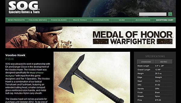 Loja vende arma com a marca Medal of Honor (Foto: Divulgação)