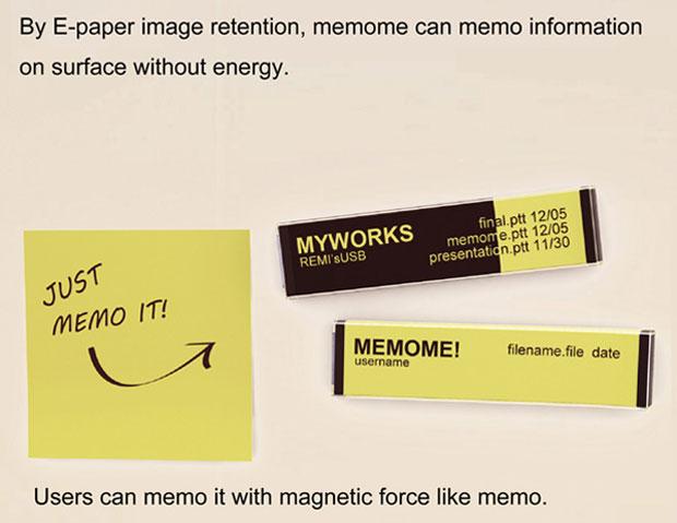 Tecnologia de papel eletrônico permite que informações sejam exibidas na superfície do pendrive (Foto: Reprodução)