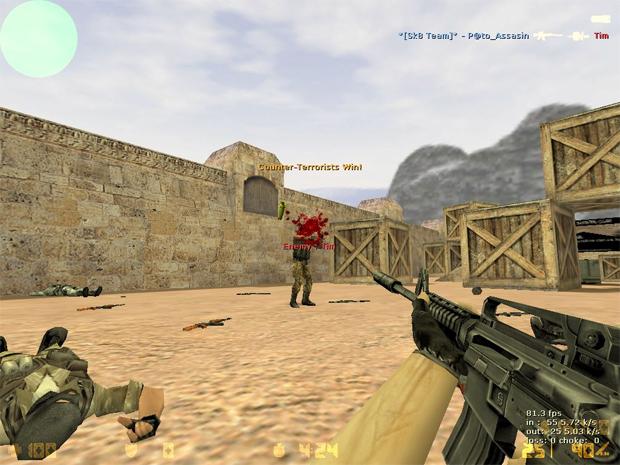 A eterna guerra entre CTs e Terroristas (Foto: Reprodução)