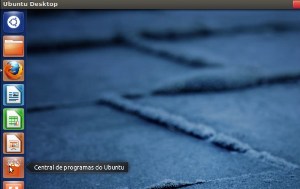 Abrindo a central de programas do Ubuntu (Foto: Reprodução/Edivaldo Brito)