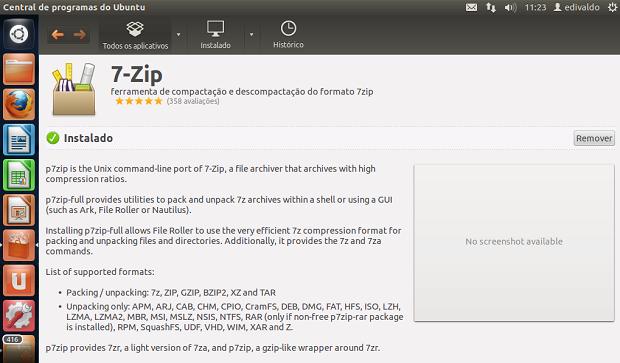 Olhando os detalhes do aplicativo antes de remover (Foto: Reprodução/Edivaldo Brito)