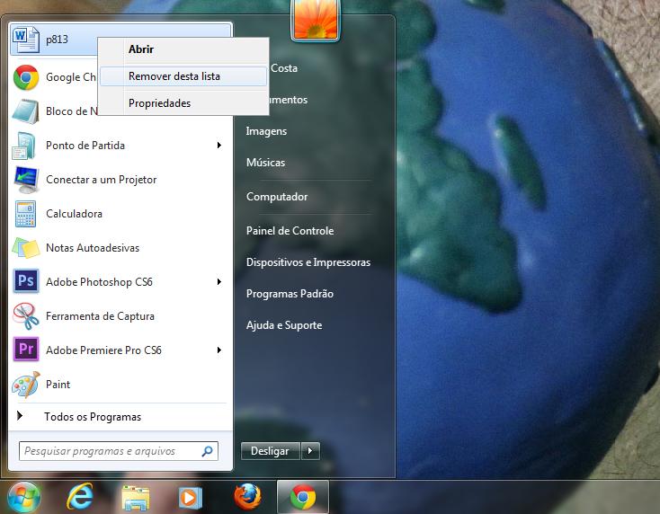 Como remover arquivos ou pastas do menu Iniciar (Foto: Reprodução/Marcela Vaz)